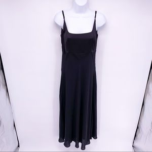 Modern Citizen Black Spaghetti Strap Midi Dress